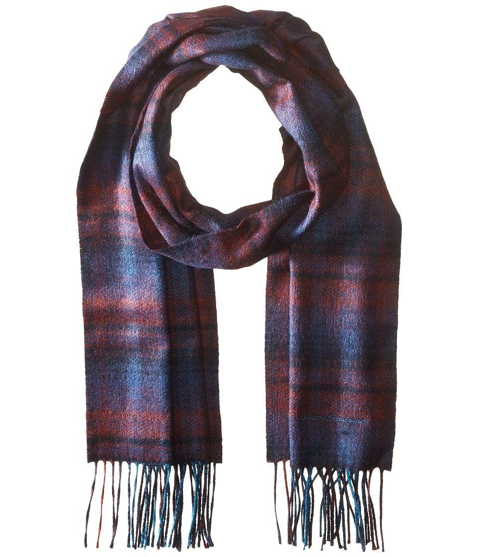 salvatore ferragamo s burgundy sr back scarf 526553