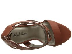 Karter Cognac Womens Toe Open Shoes Michael Antonio                                                                                                              Tan color