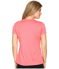 Heather Crew Neck Tee Coral Cake Heather FILA                                                                                                              pink color