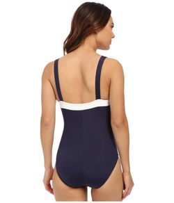 Signature Rem Soft Cup One-Piece With Strapping Nautica                                                                                                              Navy color