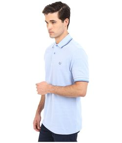 Twin Tipped Polo Light Smoke Oxford/Soft Fred Perry                                                                                                              dark blue color