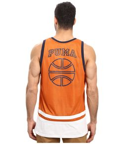 Basketball Jersey Burnt Mens Clothing Puma                                                                                                              orange color