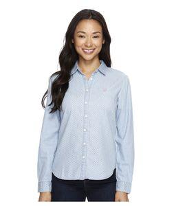 U.S. POLO ASSN. | Denim Shirt Light Indigo Print Dot Womens