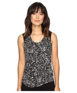 Calvin Klein Jeans | Printed Lace Pieced Sleeveless Knit Shirt