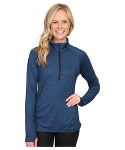 Lucy | Inner Spark 1/2 Zip Poseidon/ Heather Womens Long