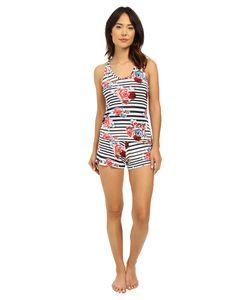 Hanky Panky | Nautical Rose Sleep Set Blue/White Womens Pajama