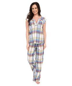 Lucky Brand | Woven Pajama Chance Plaid Womens Pajama Sets