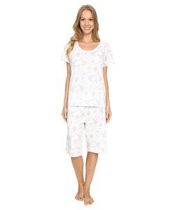Carole Hochman | Key Item Bermuda Pajama Birds Womens Pajama Sets