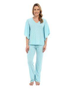 N by Natori | Slub Jersey Pj Aquamarine Womens Pajama Sets