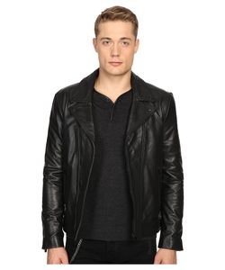 The Kooples | Faded Leather Motorcycle Jacket Mens Coat