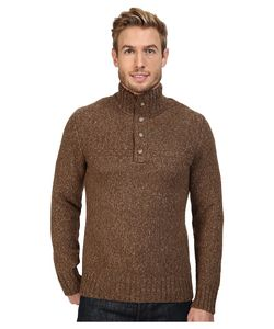 Royal Robbins   Sequoia Button Mock Sweater Earth Mens Sweater