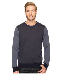 Thomas Dean & Co.   Thomas Dean Amp Co. Color Block Merino Crew Sweater