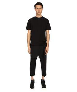 D.Gnak   Layered T-Shirt W/ Detachable Ornament Mens T Shirt