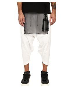 D.Gnak   Diagonal Hem Cropped Pants Mens Casual Pants
