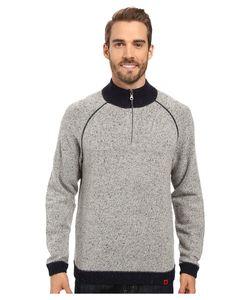 Mountain Khakis   Fleck Qtr Zip Sweater Lunar Mens Sweater