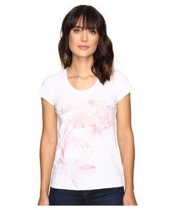 Calvin Klein Jeans | Flower Logo Tee Classic Womens T