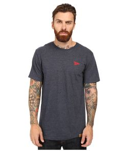 Primitive | Arch Pennant Lightweight Tee Navy Heather Mens T Shirt