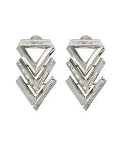 Eddie Borgo | Twill Chevron Earrings Rhodium Earring