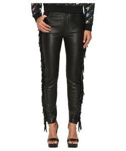 Jeremy Scott | Fringed Leather Pants Womens Casual Pants