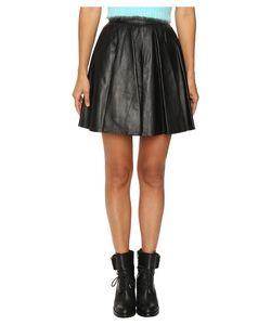 Jeremy Scott | Leather Circle Skirt Womens Skirt