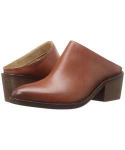 Steven | Faleen Cognac Leather Womens Clog Shoes