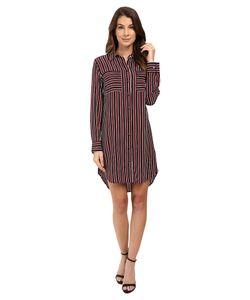 Equipment | Slim Signature Dress True /Burnt Scarlet Womens Dress