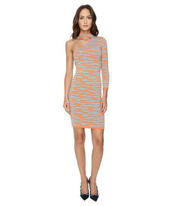 Jeremy Scott | One Shoulder Tiger Knit Dress Tiger Print