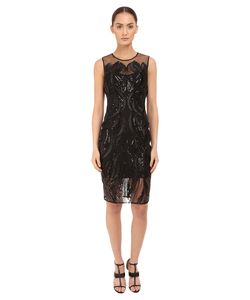 Marchesa Notte | Sleeveless Cocktail With Sequin And Ribbon Embroidery
