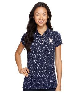 U.S. POLO ASSN. | All Over Print Stretch Pique Polo Shirt