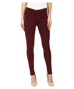 Hudson   Nico Mid-Rise Ankle Skinny In Cabernet Cabernet Womens Jeans