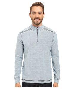 Ecoths   Theo Zip Neck Denim Mens Sweater