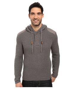 PRANA   Hooded Henley Sweater Gravel Mens Sweater