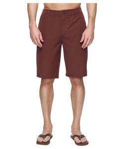 O'Neill   Loaded Hybrid Boardshorts Burgundy Solid Mens Swimwear