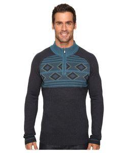 Ecoths   Zane Sweater Heathe Dark Mens Sweater