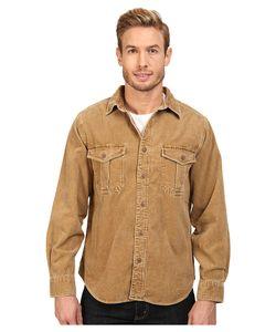 Woolrich   Hemlock Cord Shirt Regular Fit Chicory 1 Mens Clothing