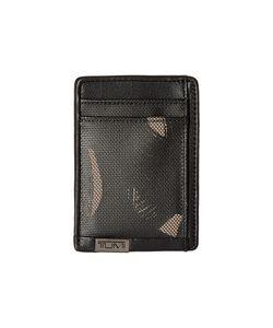 Tumi | Alpha Money Clip Card Case Smoke Character Print