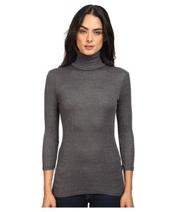 Michael Stars   Elbow Sleeve Turtleneck Oxide Womens Clothing