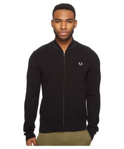 Fred Perry   Bomber Neck Zip Thru Cardigan Mens Sweater