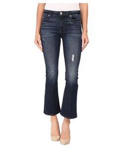 Hudson   Mia Crop Flare In Electric Clover Destructed Electric Clover