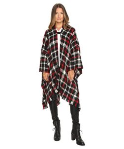 Boutique Moschino | Tartan Poncho Printed Womens Clothing