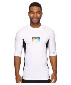 Billabong   Iconic Short Sleeve Rashguard Mens Swimwear