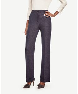Ann Taylor | Petite Tweed High Waist Flare Pants