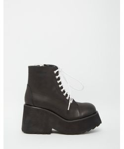 Unif | Ryder Black Lace Up Boots
