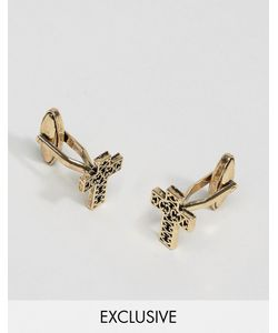 DesignB London | Cross Cufflinks In Antiqued