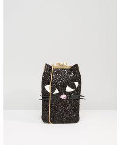 Lulu Guinness | Glitter Kookie Cat Ellie Across Body Bag