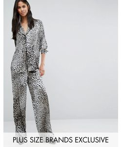 Y.A.S Tall | Steph Leo Printed Pyjama Style Trouser Mono
