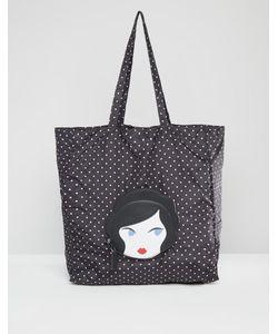 Lulu Guinness | Doll Face Packable Shopper Bag