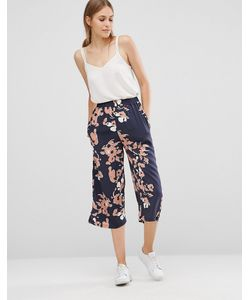 Just Female | Floral Culottes Anthracite Aop