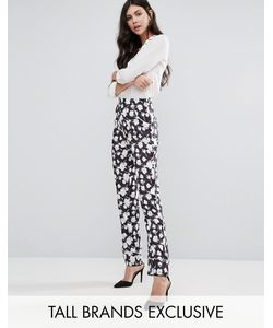 Alter Tall | Pyjama Style Trouser In Floral Print Mono