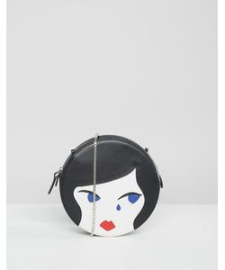 Lulu Guinness | Doll Face Round Leather Cross Body Bag
